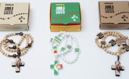 Madera y plástico reciclado para los Rosarios de la JMJ 2023